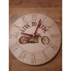Zegar na ścianę drewniany...